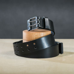 Leather belt for guys Black 1 small.