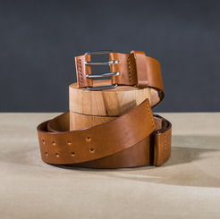 Leather belt for guys Caramel 1 small.