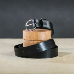 Leather belt for ladies Black 1 small.