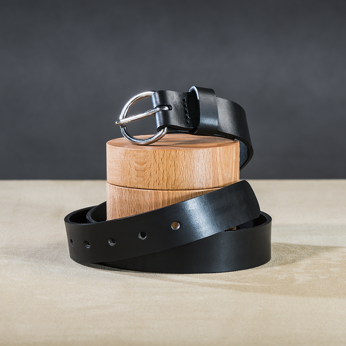 Leather belt for ladies Black 1.