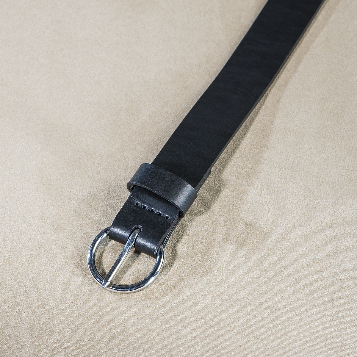 Leather belt for ladies Black 3.