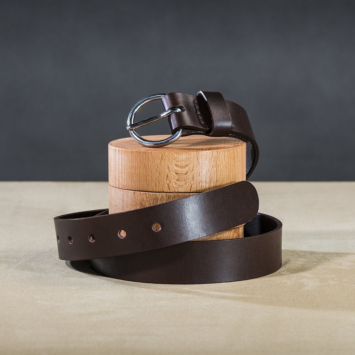 Leather belt for ladies Brown 1.
