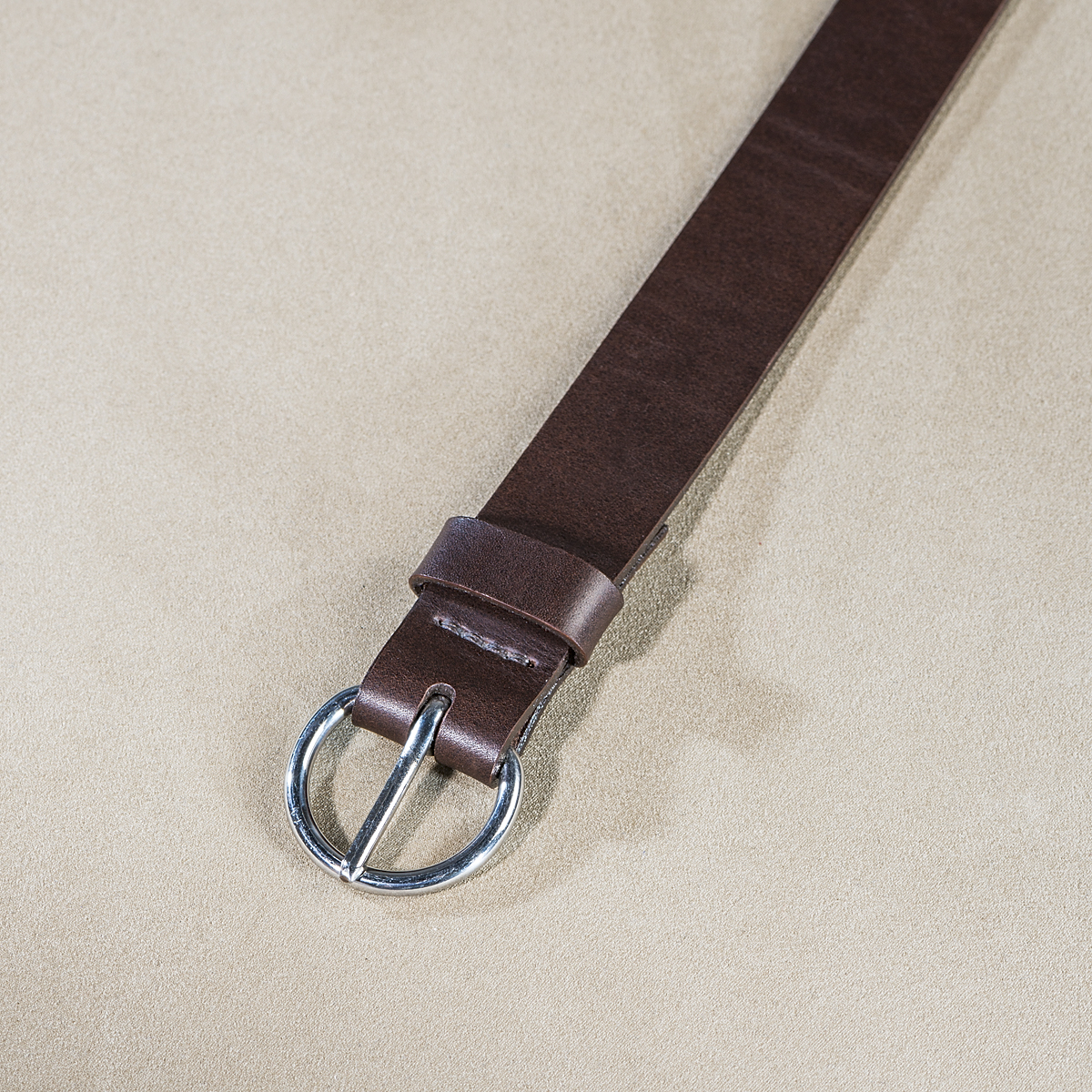 Leather belt for ladies Brown 3.